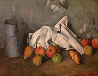 Paul Cezanne Milk Can with Apples