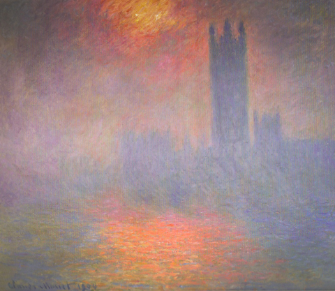 Claude Monet 1840-1926,  London, Houses of Parliament, The Sun Shining through the Fog, 1904