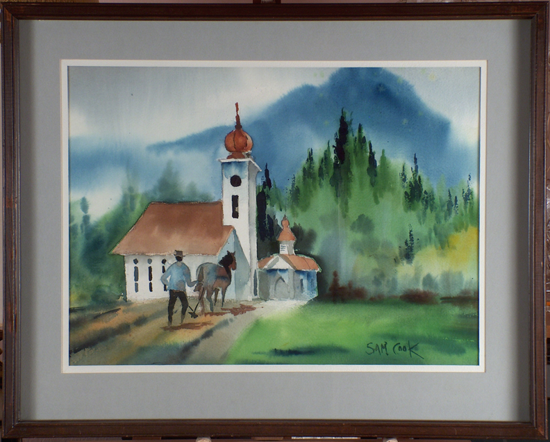 Sam Cook Bavarian Chapel with frame