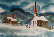 Sam Cook Chapel in the Snow Midsized Thumbnail