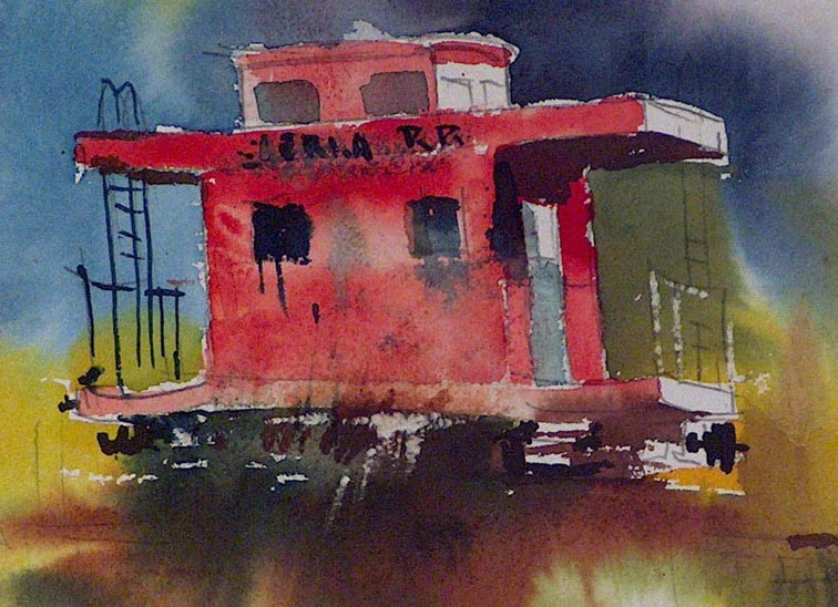 Sam Cook Red Caboose Closeup