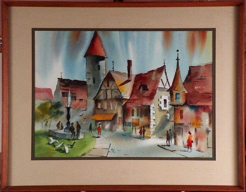 Sam Cook Village Street Germany with Frame