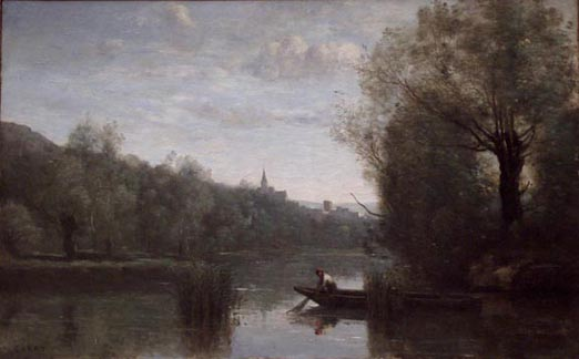 Banks of the Somme at Picquigeny  Artist: Jean-Baptiste-Camille Corot (1796-1875)