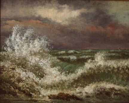 Gustave Courbet The Wave ca 1869