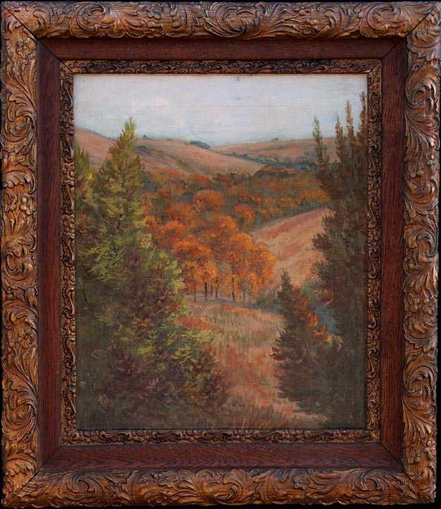 Frank Cuprien Fall Landscape with frame