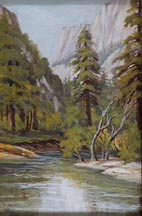 Alice Hunt Curtis Yosemite Valley Near Old Village 1937 Midsized Thumbnail