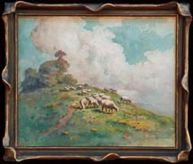 Carl Dahlgren Sheep on Hillside