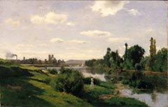 Charles Francois Doubigny The River Sein at Montes 1865