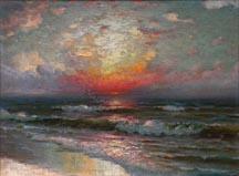 Richard Dey De Ribcowsky Sunset Seascape Midsized Thumbnail