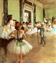 Edgar Degas The Dance Lesson