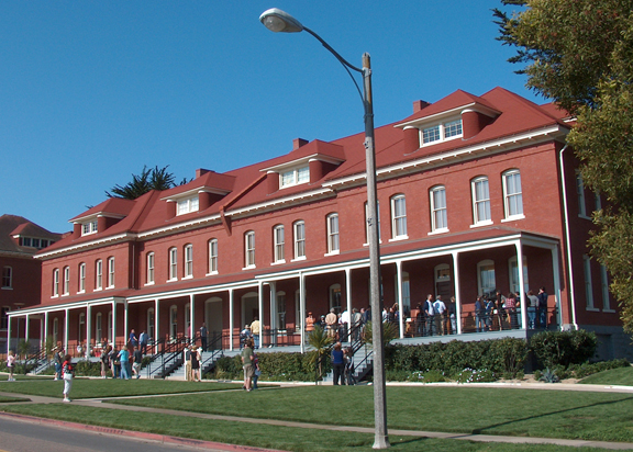 Exterior on Opening Day Disney Family Museum Presidio SF 9 27 09
