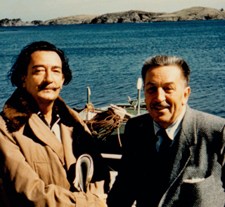 Disney and Dali by a Lake