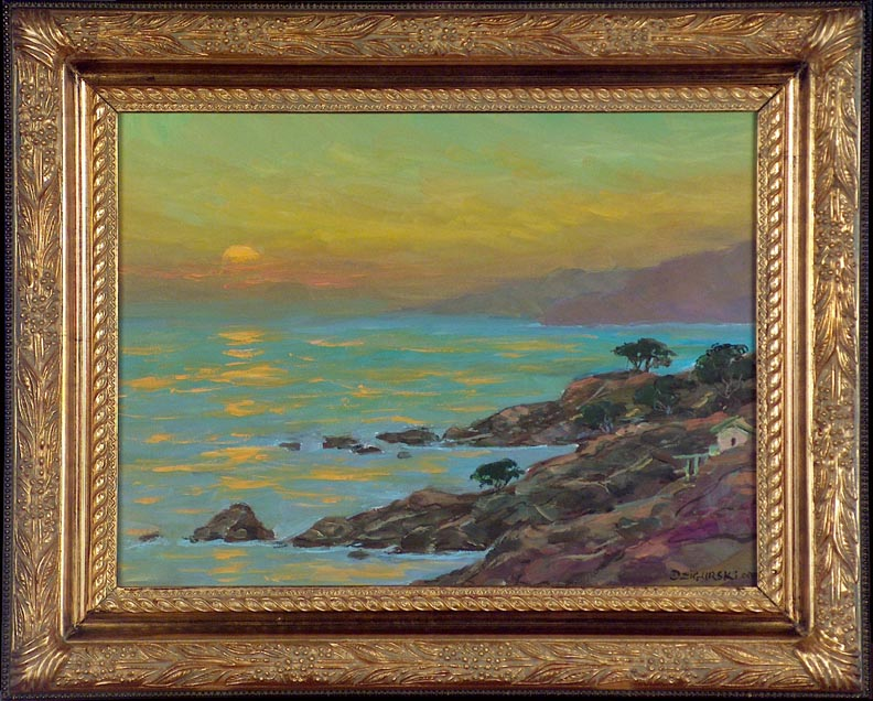 Alex Dzigurski II Sonoma Coast Sunset with Frame