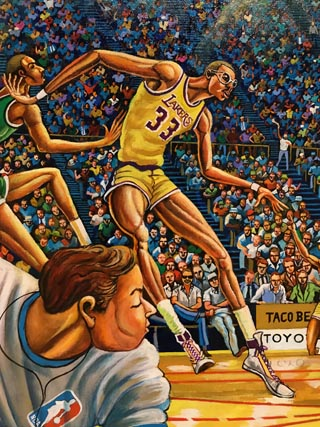 Kareem (excerpt of Fastbreak), 1987 Collection of The Los Angeles Lakers, Inc.