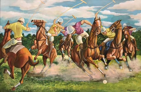 Polo Game, 1985 Ernie Barnes Family Trust