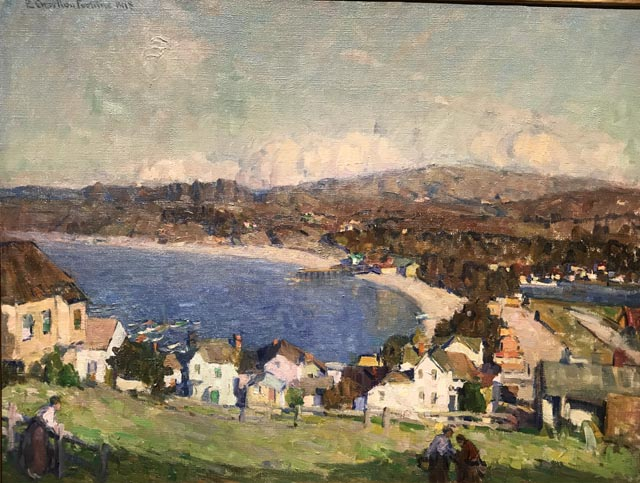 Above the Town (Monterey Bay) c1918 Collection of Stephen P. Diamond, M.D.