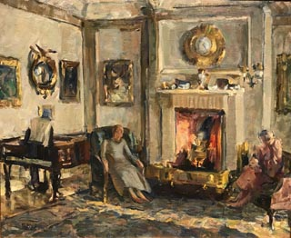 Conversation Piece (aka Scottish Living Room),  c1921 -- completed 1961-62 Robert J. Dwyer Trust