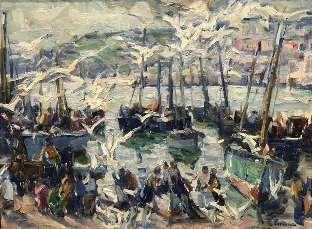 Mackerel Season (aka Bidding on the Catch), 1922 Collection of Paula and Terry Trotter