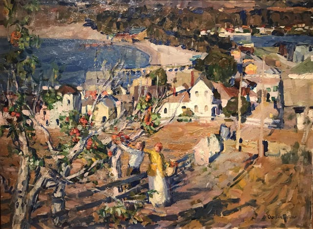 Picking Apples (Above the Town), c1920 Collection of John and Patty Dilks