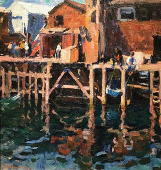Wharf, Monterey, 1915 Private Collection