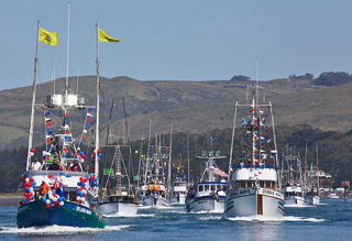 Bodega Bay's Fishermans Festival Parade of Boats