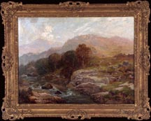 Hugo Anton Fisher Rocky River Landscape Attributed Midsized Thumbnail
