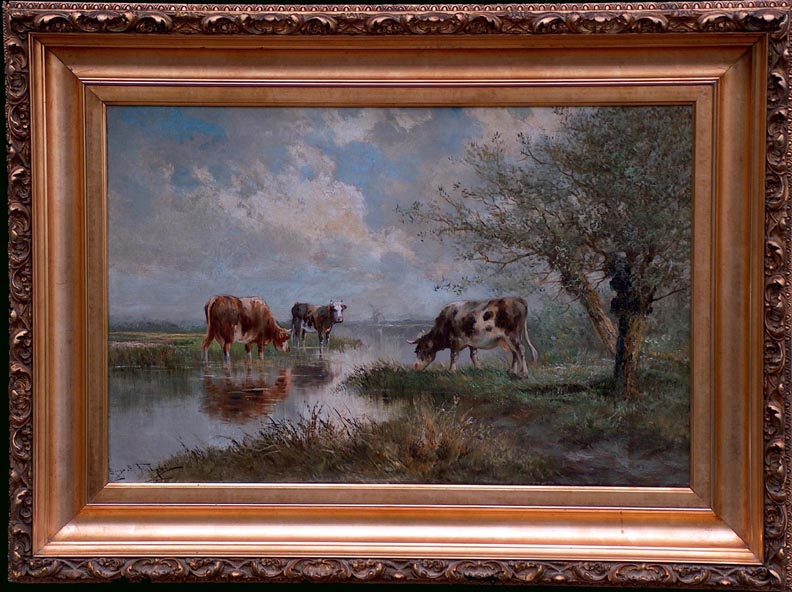 Hugo Anton Fisher Cattle Grazing with Frame