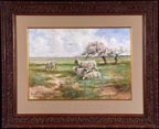 Hugo Anton Fisher Sheep in Spring Meadow Thumbnail