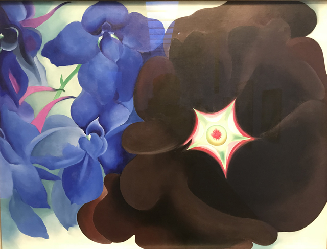 Black Hollyhock Blue Larkspur, 1930 Georgia O'Keeffe