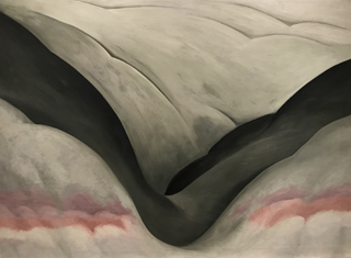 Black Place, Grey and Pink, 1949 Georgia O'Keeffe