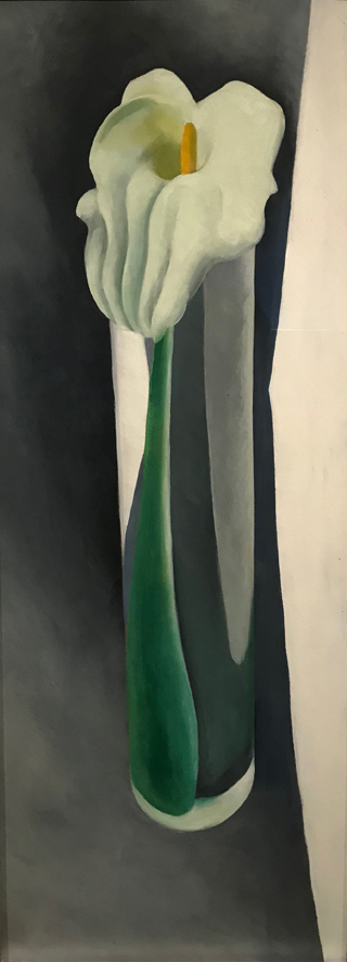 Calla Lily in Tall Glass, No 2, 1923 Georgia O'Keeffe