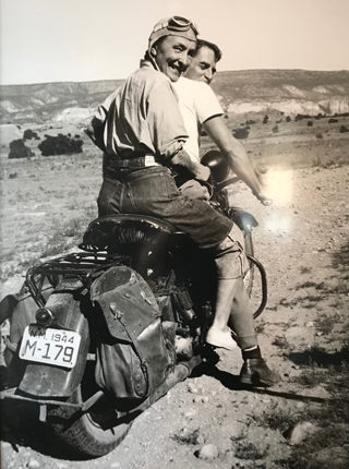 Georgia O'Keeffe Hitching a Ride  to Abiquiu with Marice Grosser, 1944 Maria Chabot, age 57