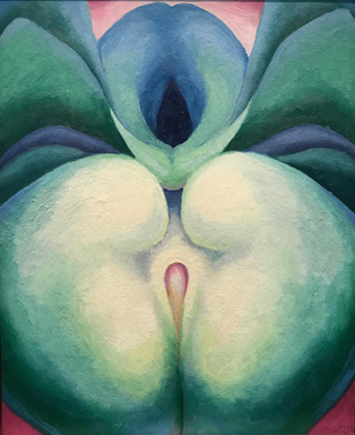 Series I, White & Blue Flower Shapes, 1919 Georgia O'Keeffe