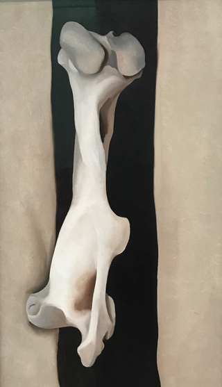 Thigh Bone on Black Stripe, 1930 Georgia O'Keeffe