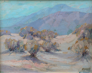 Desertscape Oil on canvas, 12 x 15 Florence Young 1872-1974