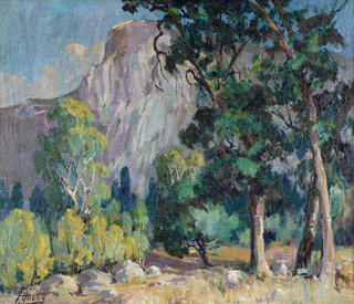 Half Dome, Yosemite Oil on canvas, 24 x 28 Florence Young, 1872-1974