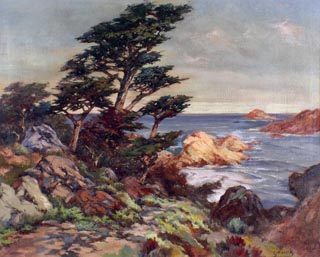 Cypress Cove Oil on canvas, 25 x 30 Frances Upson Young, 1870-1950