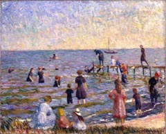 William Glackens Bathing at Bellport Long Island 1912