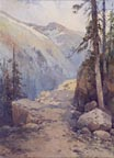 Charles S Graham Mountain Path and Conifers Thumbnail