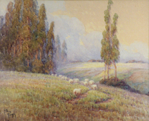 Grace Allison Griffith Sheep Hills and Eucalyptus Midsized Thumbnail