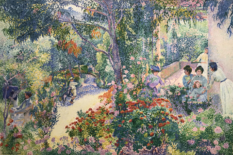 Henri Edmond Cross, Afternoon in the Garden, 1904 Stadel Museum, Frankfurt, Germany