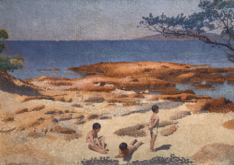 Henri Edmond Cross, Baigne-Cul Beach, 1891-92 The Art Institute of Chicago, Chicago, Illinois