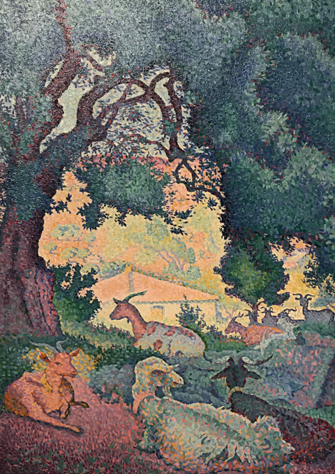 Henri Edmond Cross, Goats, 1895 Association Friends of the patit palais, Geneva, Switzerland