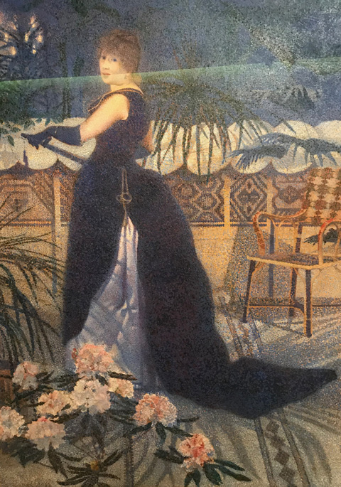 Henri Edmond Cross, Madame Hector France, 1891 Musee d'Orsay, Paris, France