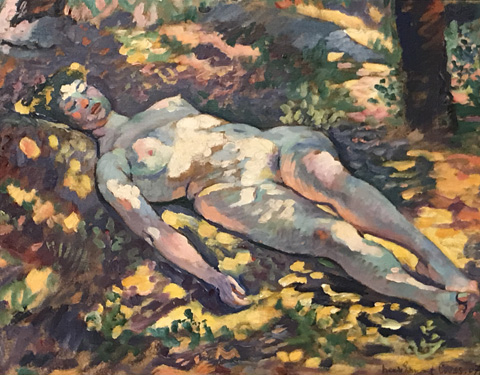 Henri Edmond Cross, Sleeping Nude in a Clearning, 1907 Musee de Grenoble, Grenoble, France