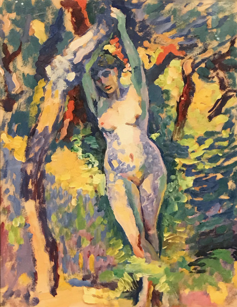 Henri Edmond Cross, Nude Study, 1906-08 Bibliotheque Royale de Belgigue, Brussels, Belgium