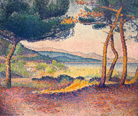 Henri Edmond Cross, Pines on the Beach, 1896 New York Metropolitan Museum of Art, New York, NY