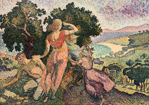 Henri Edmond Cross, Study for An Excursion, 1894 Association Friends of the patit palais, Geneva, Switzerland