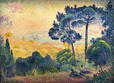 Henri Edmond Cross, Provincial Landscape, 1891 Wallraf-Richartz Museum, Cologne, Germany