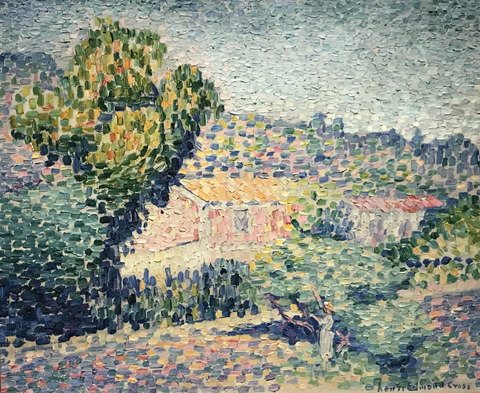 Henri Edmond Cross, The Rose House, 1901-05 Musee d'Ixelles, don Madeleine Maus, Ixelles, Belgium